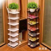 鞋櫃架多層簡易現代簡約經濟型家用客廳省空間多功能收納鐵藝zzy1599【雅居屋】TW