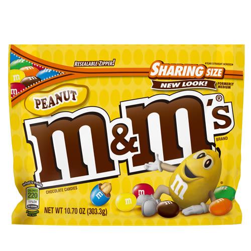 M&M S花生巧克力303.3g【愛買】
