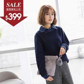 《KG0144-》假兩件襯衫領造型內刷毛上衣 OB嚴選
