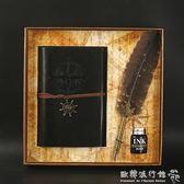 羽毛筆  歐式復古羽毛筆套裝哈利波特蘸水鋼筆禮盒裝實用禮物企業訂製LOGO  『歐韓流行館』