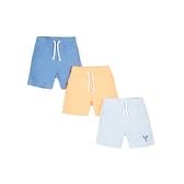 mothercare 3入淺藍橘休閒短褲-海灘派對(M0LF537)09M