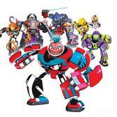 正版蛋蛋小子兒童全套玩具變形機器人派奇爆丸金剛爆能機甲王套裝