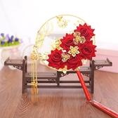 中式團扇婚禮新娘