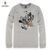 Hush Puppies T恤 男裝紐約大蘋果印花長袖T恤