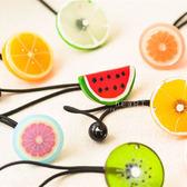 夏日水果造型髮圈 兒童髮飾 兒童髮圈 水果髮圈 透明水果