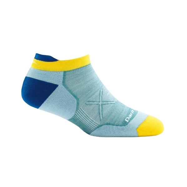 DarnTough Vertex No Show Tab Ultra-Light 1016 女款跑步透氣羊毛襪 亮藍色