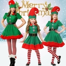 聖誕節衣服兒童服裝幼兒園親子裝演出服聖誕老人裝扮男女童表演服