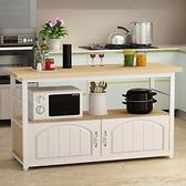 多功能微波爐廚房置物架落地多層收納儲物櫃切菜桌灶臺架碗櫃櫥櫃 NMS美眉新品