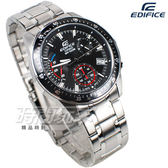 EDIFICE EFV-540D-1A 多功能計時碼錶 三眼男錶 簡約大氣 黑色 EFV-540D-1AVUDF CASIO卡西歐
