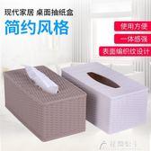 面紙盒-創意歐式家用客廳簡約紙巾盒面紙盒抽紙盒餐巾紙茶幾桌面收納盒 花間公主