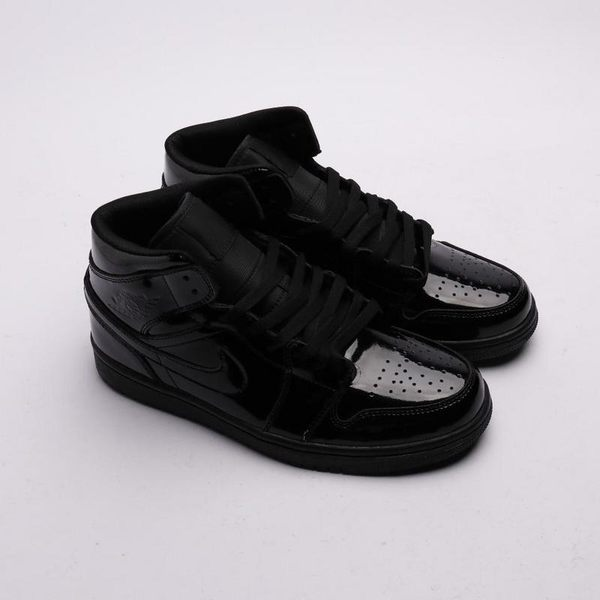 "WMNS Air Jordan 1 Mid ""Black Patent Leather"" 黑色漆皮 BQ6472-002"