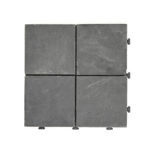 特力屋拼接踏板-切割板岩黑30x30cm