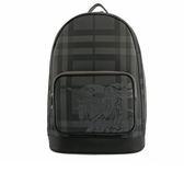 【BURBERRY】戰馬騎士London格紋後背包(碳灰) 8005530 A1008