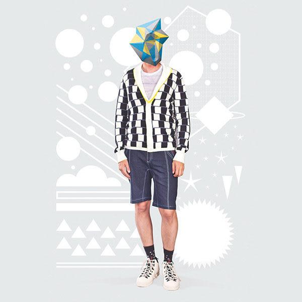 針織衫 摩達客 美國LA設計品牌【Suvnir】黑白格紋雙面 針織衫 外套(11912082005)