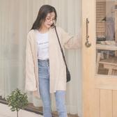 MUMU【C05528】厚實開襟大寬袖針織罩衫。炭灰/燕麥