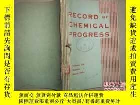 二手書博民逛書店RECORD罕見OF CHEMICAL PROGRESS[196