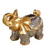 歐式高檔創意面紙盒餐桌抽紙盒客廳收納盒可愛大象桌面茶幾紙抽盒【博雅生活館】