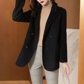 (現貨+預購 RN-girls)-精品OL經典百搭雙面呢羊毛短版外套