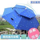 頭戴式雨傘 遮陽傘 防曬 折疊雨傘帽 遮陽釣魚帽
