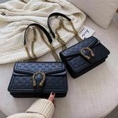 網紅小包包女秋冬季新款潮時尚百搭INS斜背包法國小眾鏈條包 koko時裝店