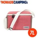 【NOMADE 7L純色肩背冷袋《粉》】N-7149/保冷袋/環保袋/露營/野餐袋