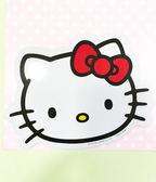 【震撼精品百貨】Hello Kitty 凱蒂貓~凱蒂貓 HELLO KITTY 車用大磁鐵-大頭白