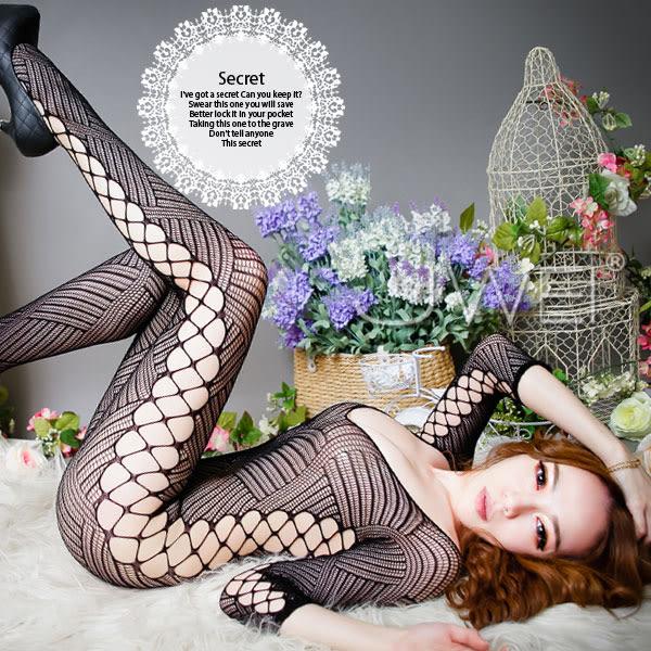 性感睡衣 菱心美網‧網狀連身貓裝 女用商品 情趣用品