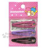 〔小禮堂〕雙子星 造型鐵製髮夾組《3入.粉紫.星星》夾子.髮飾.彈力夾 4589932-59201