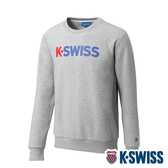 K-SWISS 2 Tone KS Logo Sweatshirt刷毛圓領上衣-男-淺灰