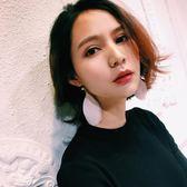 韓國彩色羽毛耳環復古波西米亞耳釘 氣質女生時尚簡約耳飾品