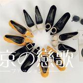 低跟鞋 磨砂方扣粗跟職業【東京戀歌】DJ14