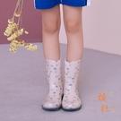 時尚可愛兒童雨鞋防水防滑寶寶雨鞋【橘社小鎮】