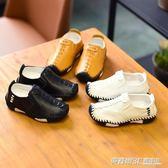 春季韓版男童軟底皮鞋 小男孩單鞋兒童休閒1-12歲寶寶豆豆鞋  英賽爾3
