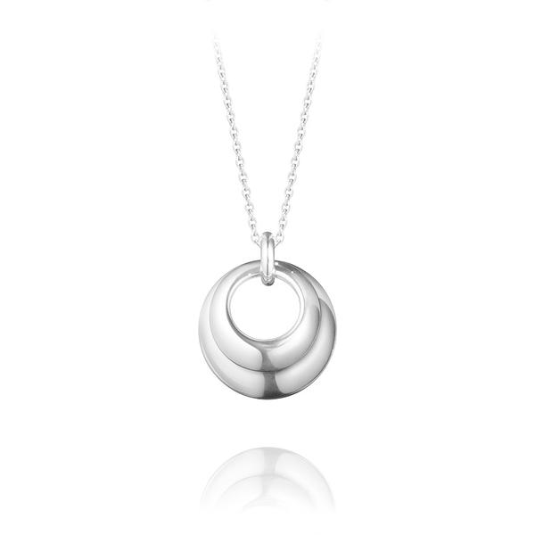 丹麥 Georg Jensen Jewellery Silver Curve Pendant 22mm 曲線系列, 戀愛渦旋 項鍊『加贈 拭銀布兩份』