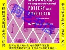 二手書博民逛書店MARKS罕見AND MONOGRAMS ON EUROPEAN AND ORIENTAL POTTERY AND