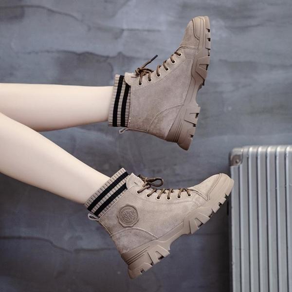 女鞋子馬丁靴女英倫風2019年新款秋冬季百搭加絨女短靴春秋單靴子