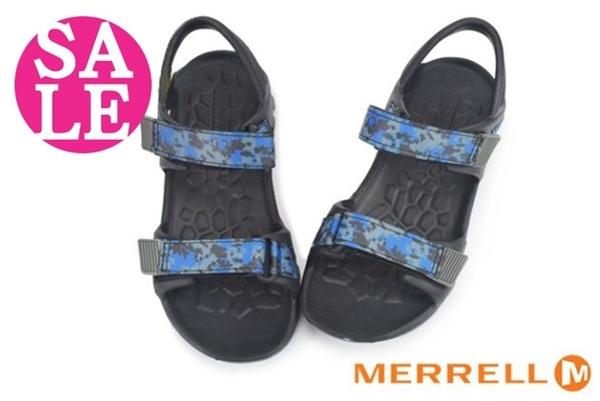 MERRELL男童織帶涼鞋 中童 HYDRO DRIFT 環保運動涼鞋 零碼出清 I6492#黑藍◆OSOME奧森鞋業