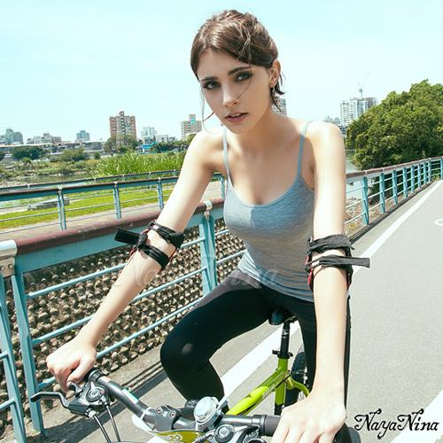 運動型內衣 舒活好感細肩帶無鋼圈BRA背心M~L(灰) SEXYBABY 性感寶貝NA15180006-1