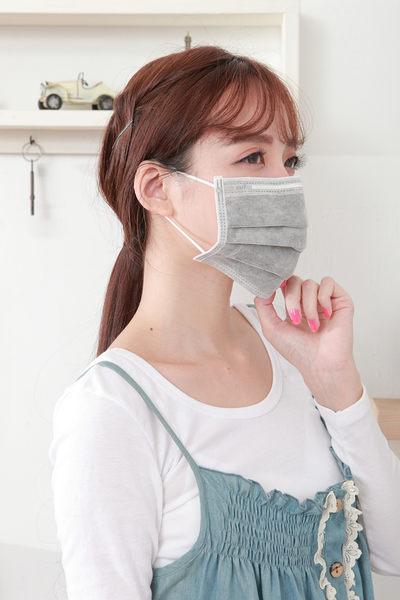 【雨晴牌-抗UV四層活性碳不織布口罩】(單片裝) (A級高效能) 防煙臭味 新素材無痛耳帶 抗UV防曬