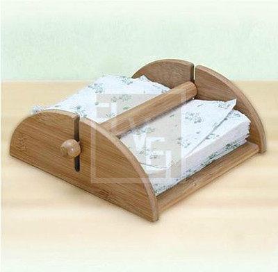 天然 楠竹 面巾紙架