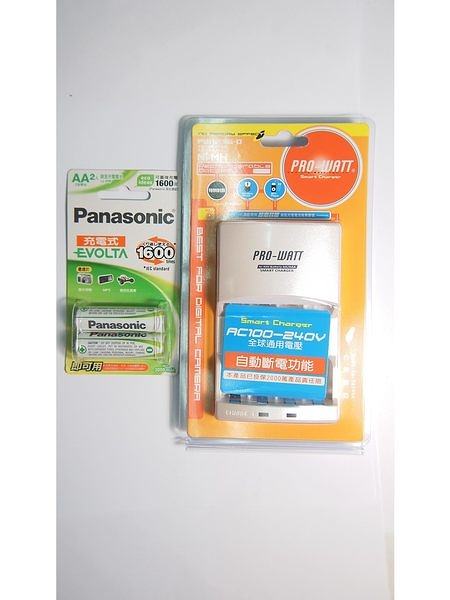 全館免運費【電池天地】 PRO-WATT PW1236兩迴路充電器+國際牌 EVOLTA 低自放充電池3號2050mah /2入