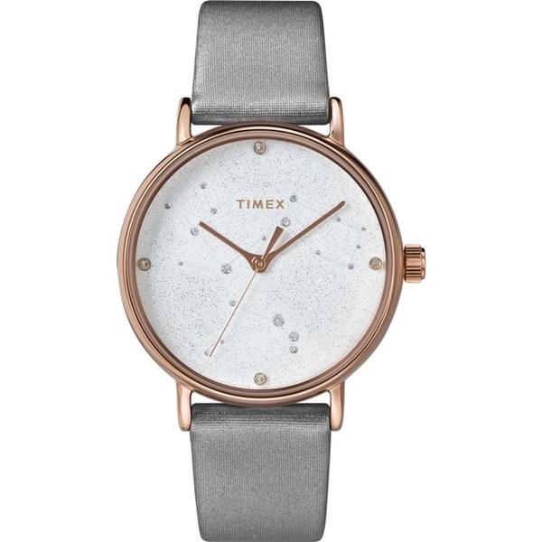 【TIMEX】天美時 復刻系列 Swarovski星象手錶 ( 灰 TXTW2T87500)