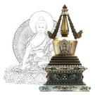 12公分 純銅菩提塔 釋迦牟尼佛 塔底可裝藏 銅色