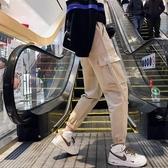 工裝褲子 情侶束腳學生韓版寬鬆運動褲 大尺碼休閒褲女裝‧衣雅