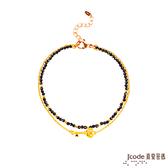 J'code真愛密碼 愛情鑰匙 黃金/尖晶石手鍊-雙鍊款