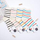韓國 線條配色襪 條紋襪 可愛襪子 棒球襪 穿搭《生活美學》