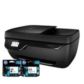 【搭63 原廠墨水匣 一黑一彩】HP OfficeJet 3830 All-in-One 商用噴墨多功能事務機