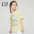 Gap女童 Gap x Disney 迪士尼系列純棉印花短袖T恤 783433-淡黃色