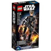 75119【LEGO 樂高積木】星際大戰 琴.厄索中士 Sergeant Jyn Erso