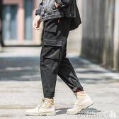 工裝褲男男韓版潮流秋冬季休閒褲直筒寬鬆工裝褲男潮牌 【新品特惠】